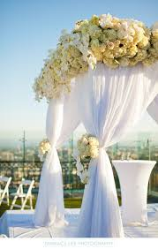 wedding chuppah los angeles wedding chuppah covered in white flowers the london