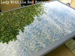 glass table top ideas new table new table top lady with the red rocker