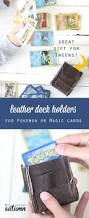 diy leather deck holders for pokemon or magic cards great tween