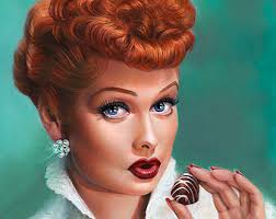 lucille ball poster i love lucy feminist print minimalist