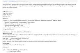 Resume Templates For Dental Assistant Dentist Resume Samples Visualcv Resume Samples Database