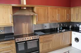 Kitchen With Stainless Steel Backsplash Stainless Steel Backsplash Behind Range Home Design Ideas