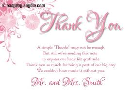 sles of thank you notes wedding invitations thank you cards wording wedding invitation ideas