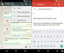 how to block emails on android how to send whatsapp chats by email