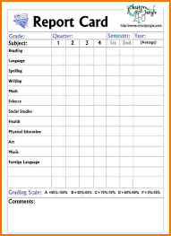 report card template pdf report card template school report card template excel