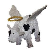 Outside Christmas Decorations At Lowes by Shop Christmas Central Lighted Angel Cow Outdoor Christmas