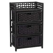 Bathroom Wicker Furniture Furniture For Bathroom Decoration Using 3 Tier Black Wicker