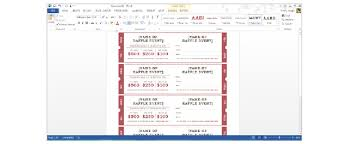 ticket template how to create tickets in microsoft word tutorial free