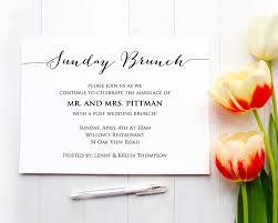 Wedding Invitation Information Card Sunday Brunch Details Card Insert Wedding Information Card