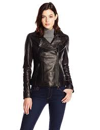 ladies motorcycle gear tommy hilfiger women u0027s classic leather motorcycle jacket at amazon