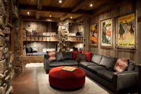 rustic living room ideas of brown wall paint scheme home