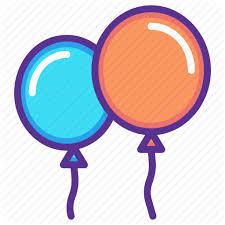 balloon celebrate celebration festival merry new year icon