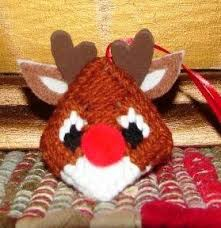 rudolph n critter plastic canvas ornament