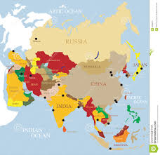 Asia Map by Asia Map Royalty Free Stock Photos Image 31304528