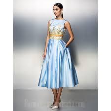 company party dresses family gathering dress sky blue plus sizes