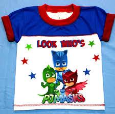 pj masks birthday boy shirt personalized shirt child