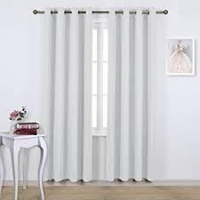 White Darkening Curtains Nicetown Room Darkening Curtains For Living Room