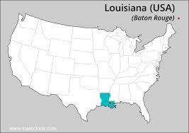 map usa louisiana loisiana time time now in louisiana usa