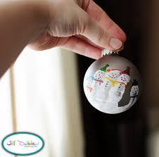 handprint snowmen ornament craft idea