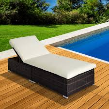 garden rattan home furniture sun lounger recliner bed chair pool