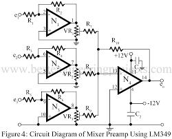 audio mixer circuit best engineering projects