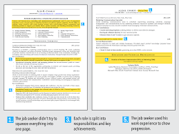 Good Vs Bad Resume Ideal Resume For Mid Level Employee Business Insider