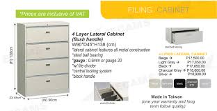 Metal File Cabinet 4 Drawer Vertical by Jecams Inc 4 Layer Lateral Cabinet Flush Handle