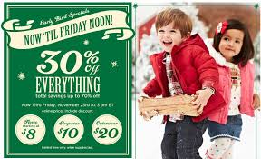 gymboree black friday 30 everything until 3 pm today southern