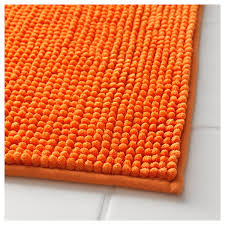 Ultra Absorbent Bath Mat Toftbo Bath Mat Orange 60x90 Cm Ultra Soft