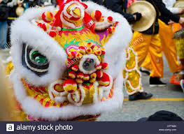 new year lion costume colourful of lion costume at the new year s