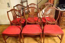 mahogany dining chairs ebay