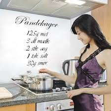 online get cheap kitchen quotes wall decals aliexpress com pandekager danish quotes wall stickers bedroom kids room living room kitchen home decor vinyl posters