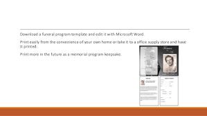 funeral program templates