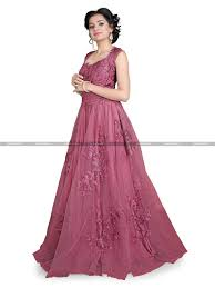 Pink Colour by Transcendent Pink Colour Heavy Embroidery Diamond Work Designer