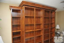 queen murphy bed cabinet library unit holds hidden murphy bed murphy beds pinterest