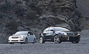 buick regal gs vs subaru legacy comparison test u2013 roadandtrack com