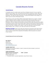 sample resume in canada format within of 21 wonderful canadian