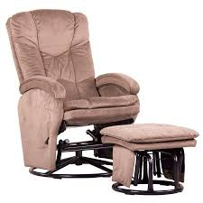 push back recliner glider rocker with swivel and brake includes