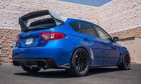 subaru impreza modified blue new carbon fiber rally wing for subaru wrx sti hatchback u2013 agency
