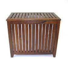 Teak Bath Bench Amazon Com Redmon Genuine Vanity Style Hamper Wood Grain Teak