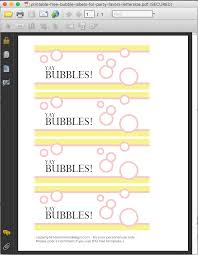 Fedex Label Template Word Printable Free Bubble Labels For Party Favors Merriment Design