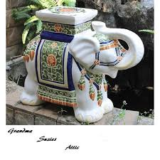 elephant end tables ceramic garden stool ceramic porcelain elephant plant stand patio accent