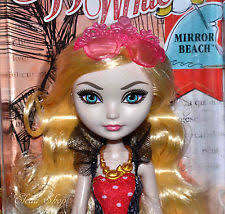 Ever After High Apple White Doll Ever After High Mirror Beach Apple White Doll Ebay