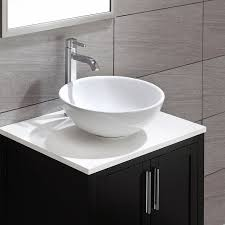 kraus kcv 141 white round ceramic bathroom sink vessel sinks