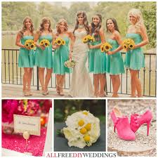 Colors That Go With Pink Wedding Color Schemes Aqua Yellow And Pink Wedding Colour