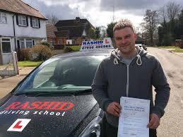 david passed his manual car driving test with rashid driving