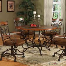 Poker Table Chairs With Casters by Steve Silver 5 Piece Tournament Dining Game Table Set With Caster