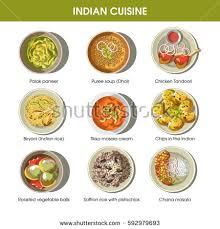 indian cuisine menu indian cuisine traditional dishes chicken tandoori เวกเตอร สต อก