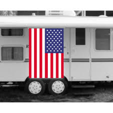 Trailer Awning Usa American Flag Rv Awning Banner K10638 Usa By Www