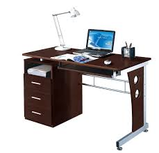 Desk With Computer Storage Computer Desk With Le Storage Color Chocolate
